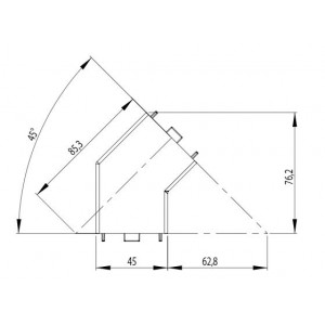 CONNECTOR 45° | 45x45 (set) - GROOVE 10