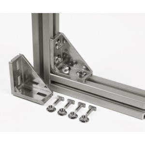 CONNECTION ANGLE 45x90 (incl. fastening set)
