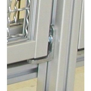 PANEL MOUNTING BRACKET FOR PROTECTIVE FENCE (incl. fastening set) - SLOT 8/10